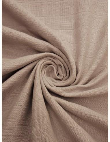Tissu lange bio - Beige clair
