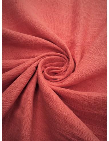 Tissu lange bio - Corail