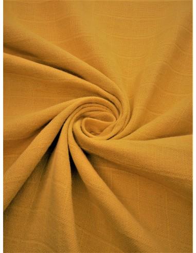 Tissu lange bio - Moutarde