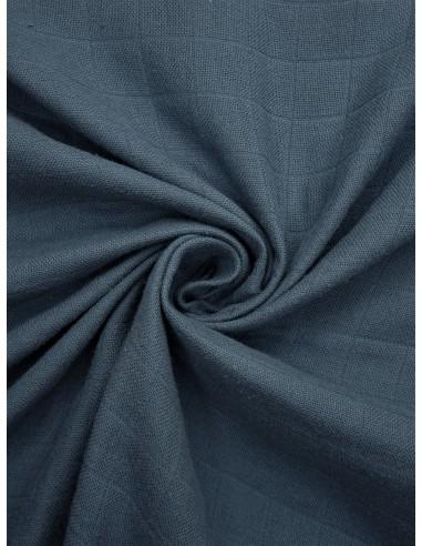 Tissu lange bio - Bleu gris