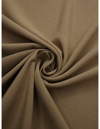 Tissu crêpe Pol/Vis/Élas - Beige
