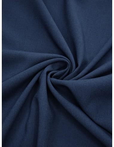 Tissu crêpe Pol/Vis/Élas - Bleu dur