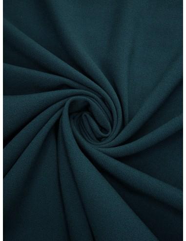 Tissu crêpe Pol/Vis/Élas - Bleu canard