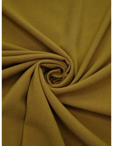 Tissu crêpe Pol/Vis/Élas - Moutarde