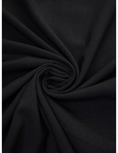 Tissu crêpe Pol/Vis/Élas - Noir