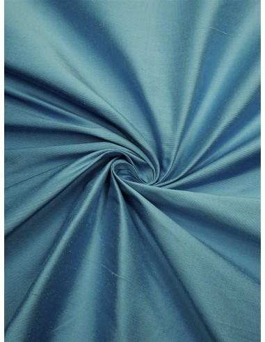 Tissu soie sauvage - Bleu